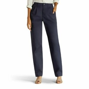 Lee Tapered Straight Leg Relaxed Fit Pleated Pants